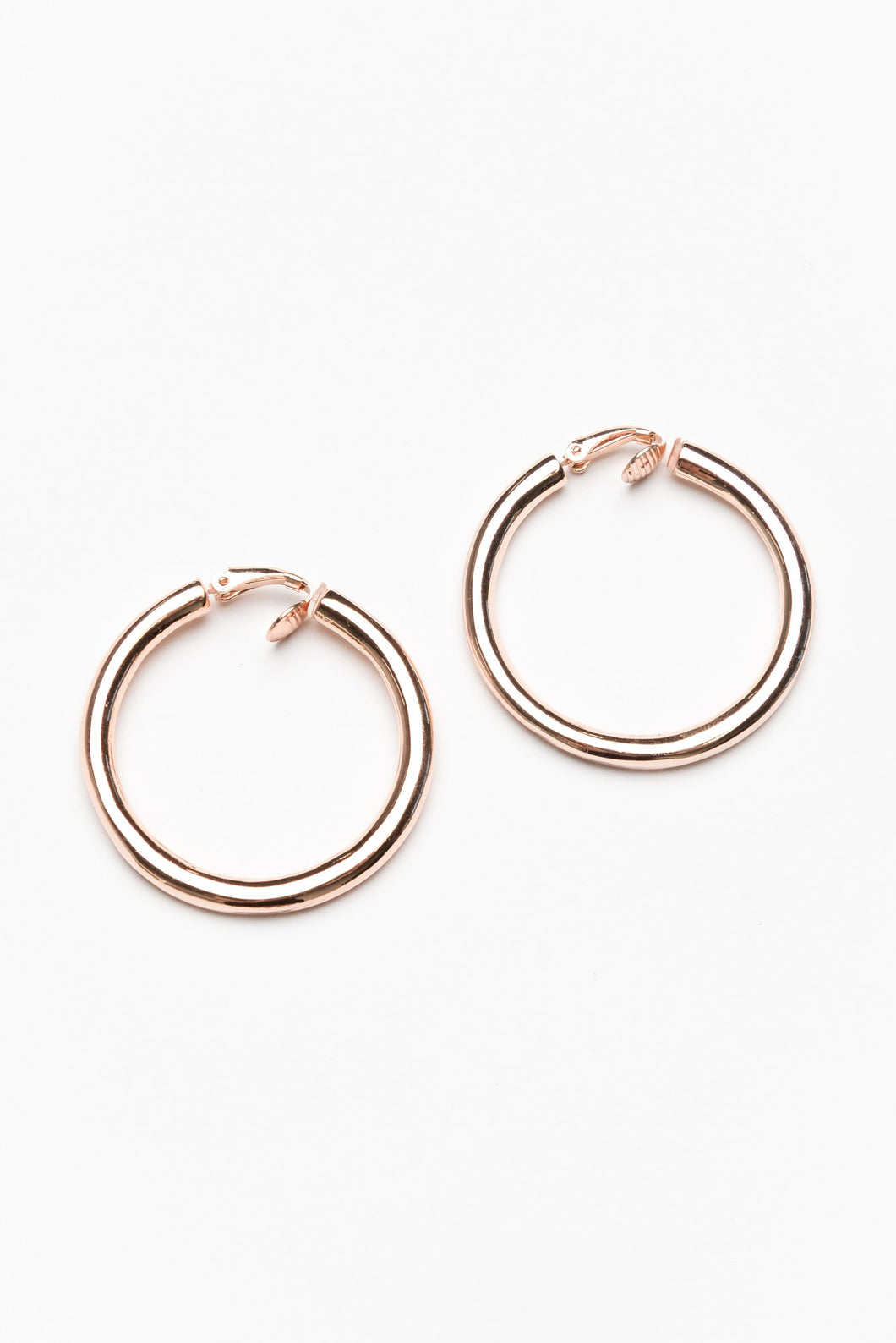 Amalfi Rose Gold Tube Hoop Earring