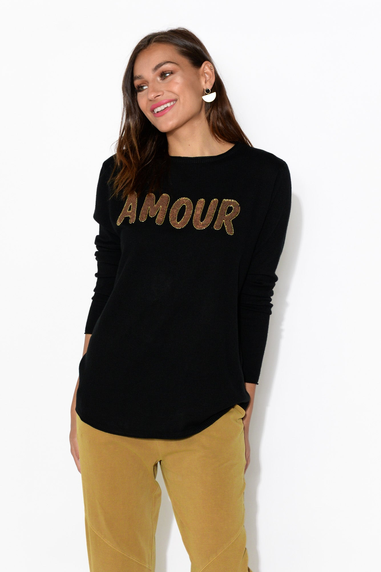 Amour Black Jumper