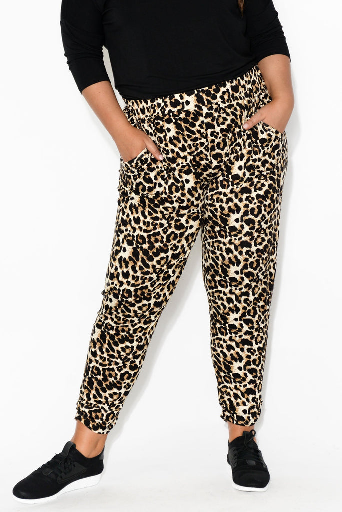 Avery Brown Leopard Pant