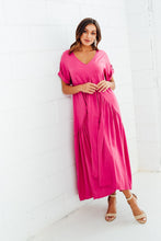Berry Peak Maxi Dress