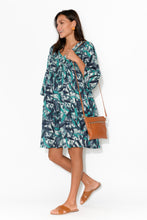Billinudgel Blue Leaf Cotton Dress