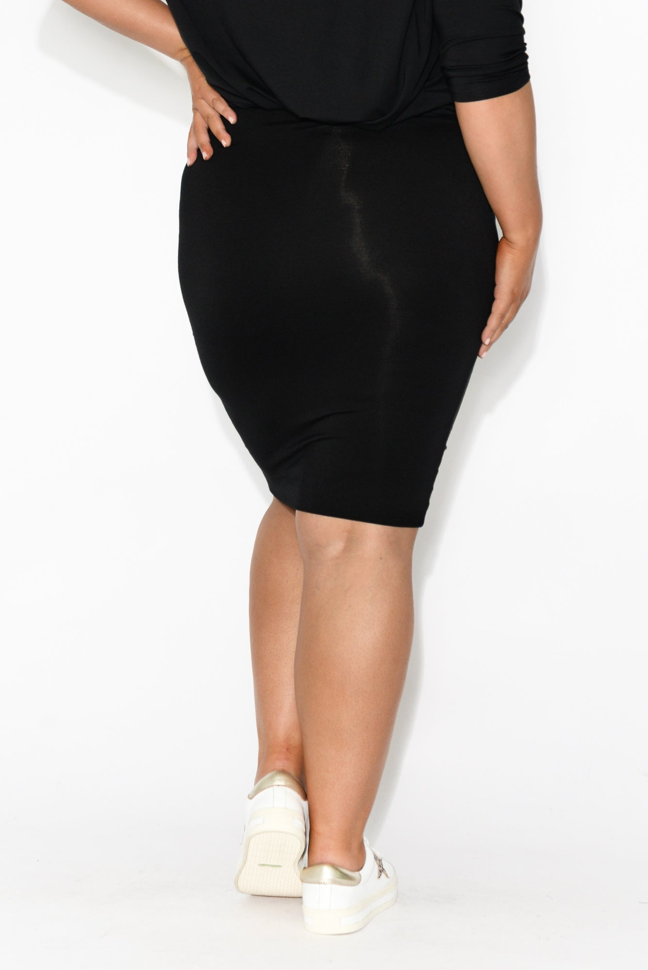 Black Bamboo Double Layer Skirt