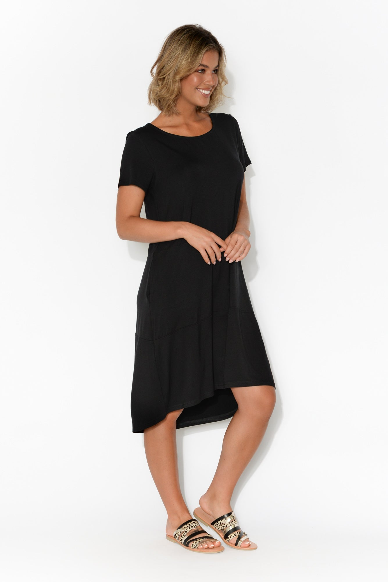 Bleeker Black Tee Dress