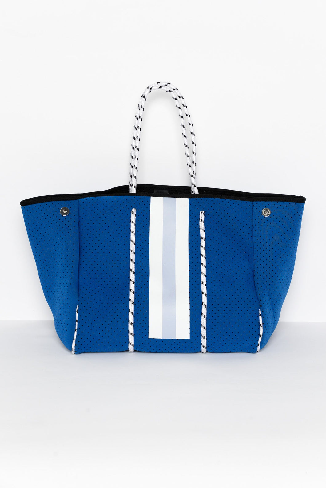 Blue Stripe Neoprene Lifestyle Tote Bag