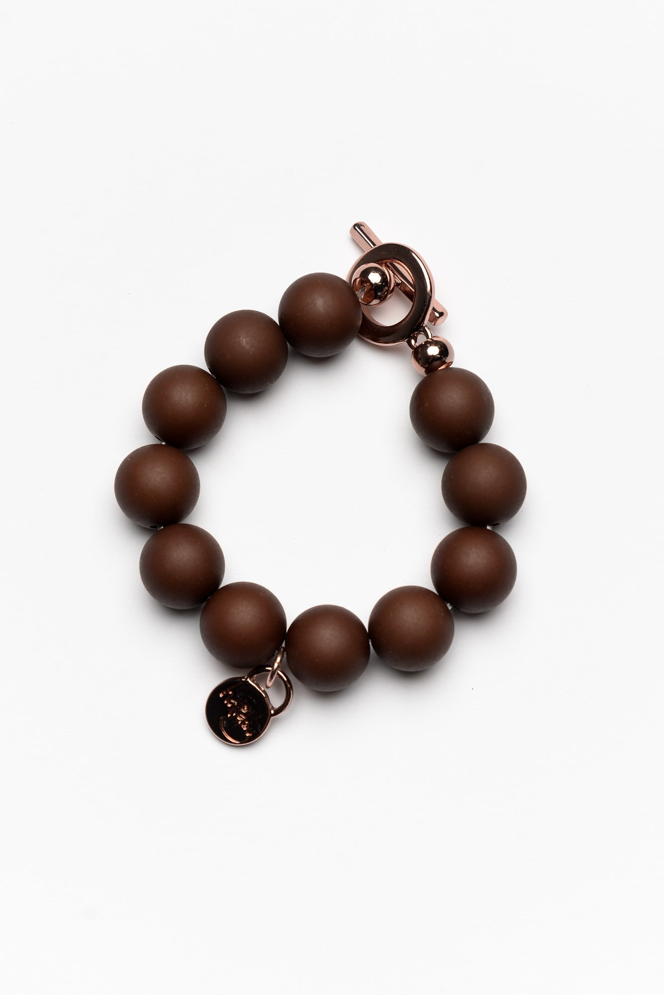 Brinkley Chocolate Beaded Bracelet