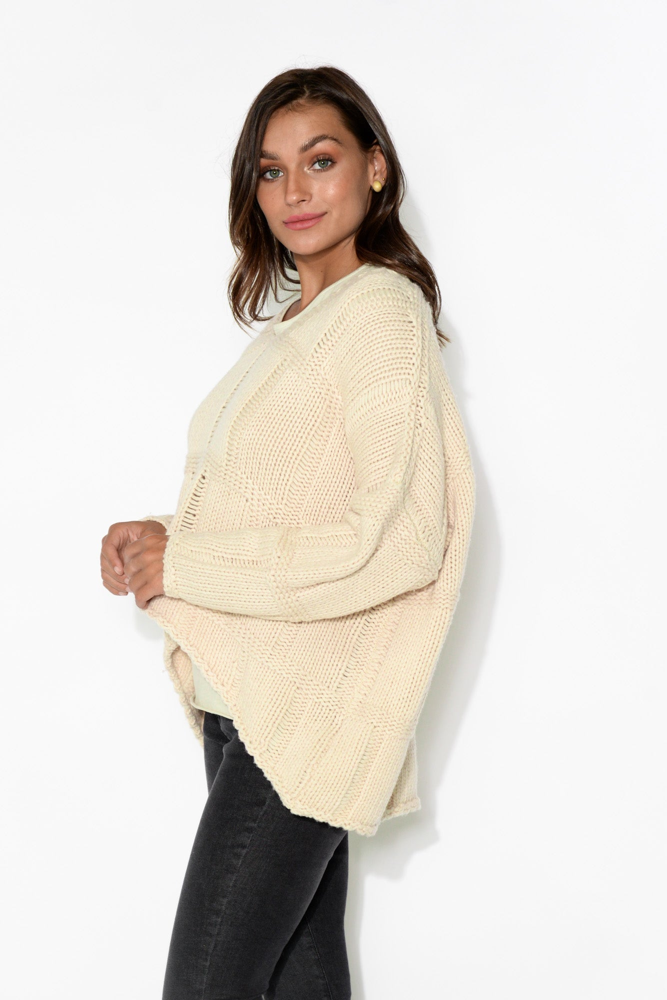 Brooklyn Ivory V Neck Knit