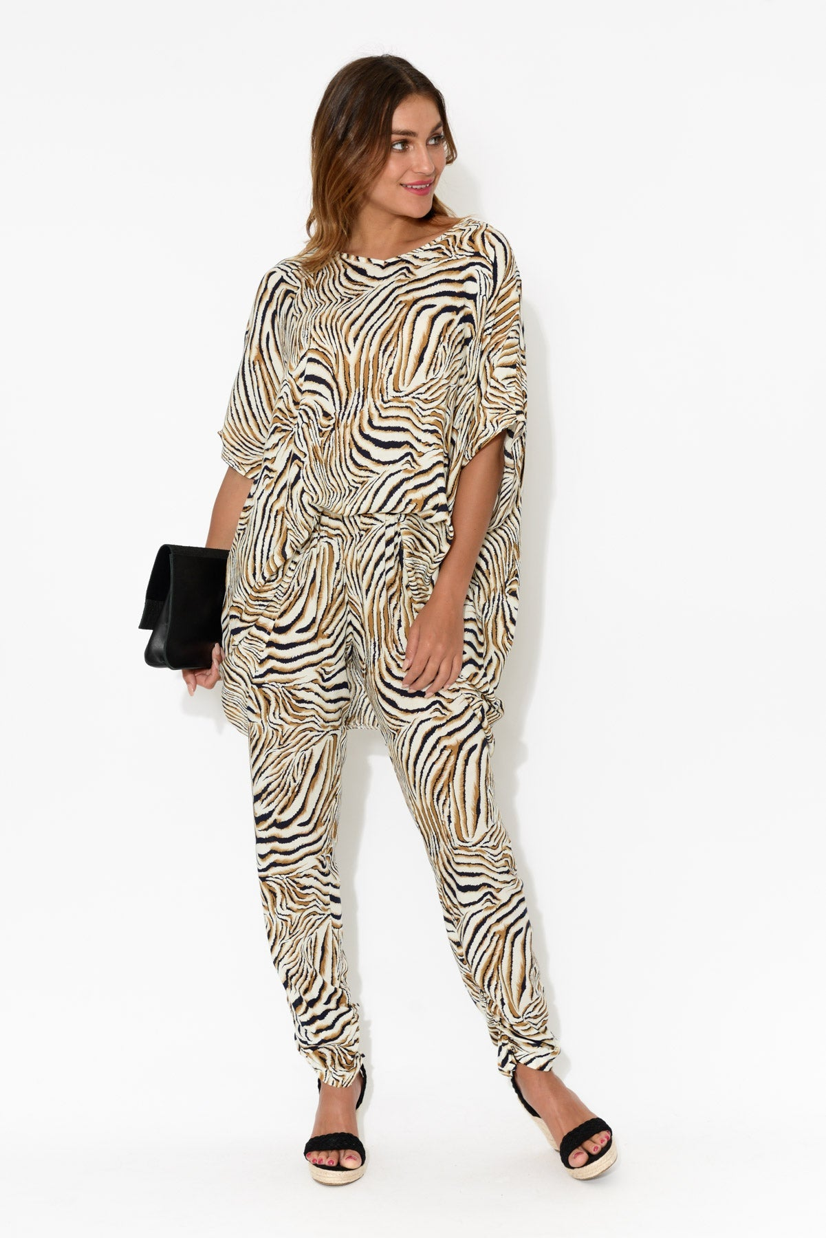 Brown Zebra Pant