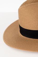 Caramel Wide Brim Travel Fedora