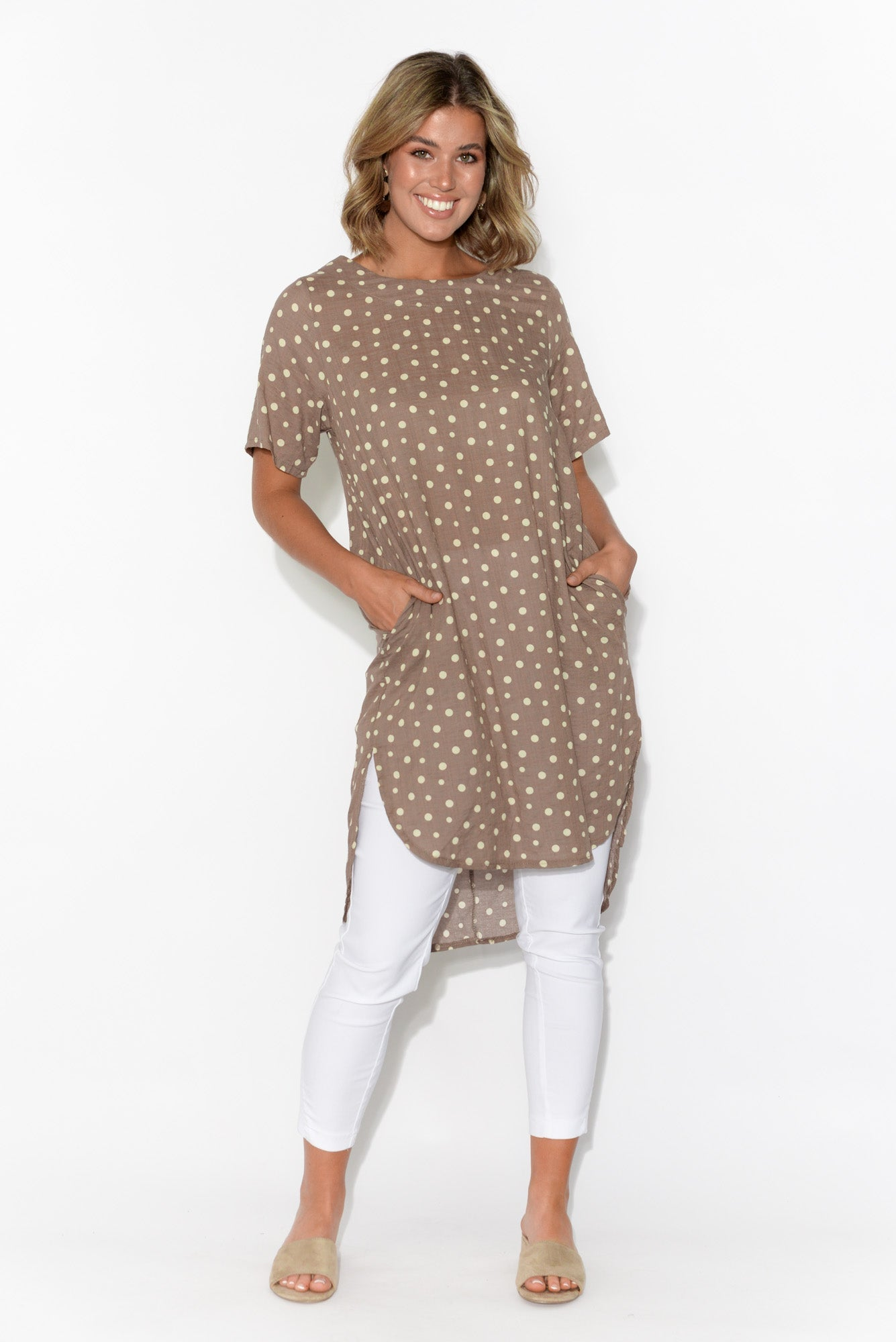 Casey Brown Spot Tunic