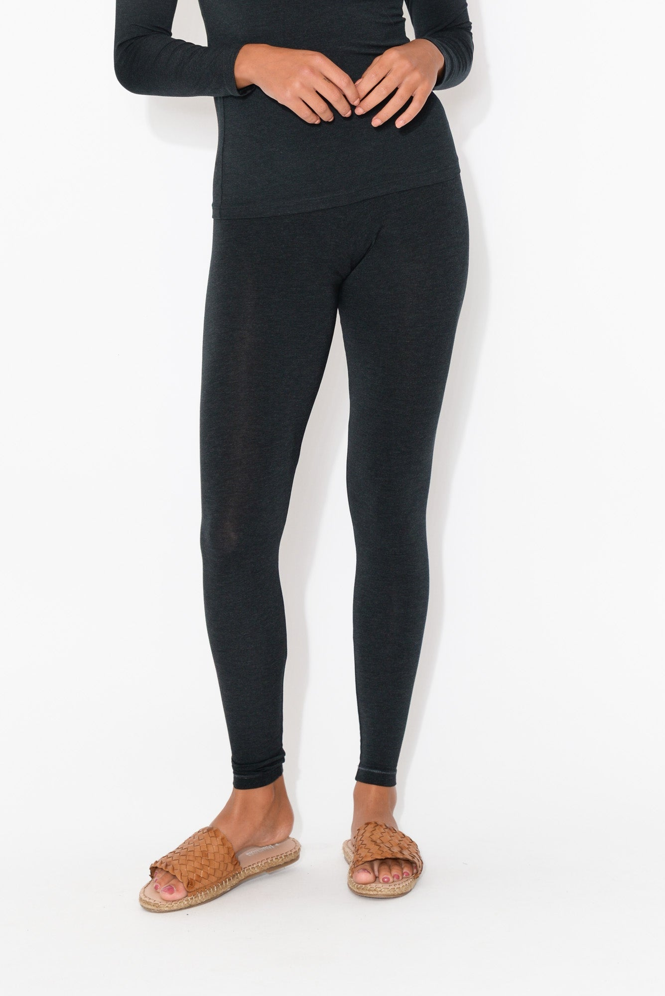 Charcoal Marle Modal Stretch Legging
