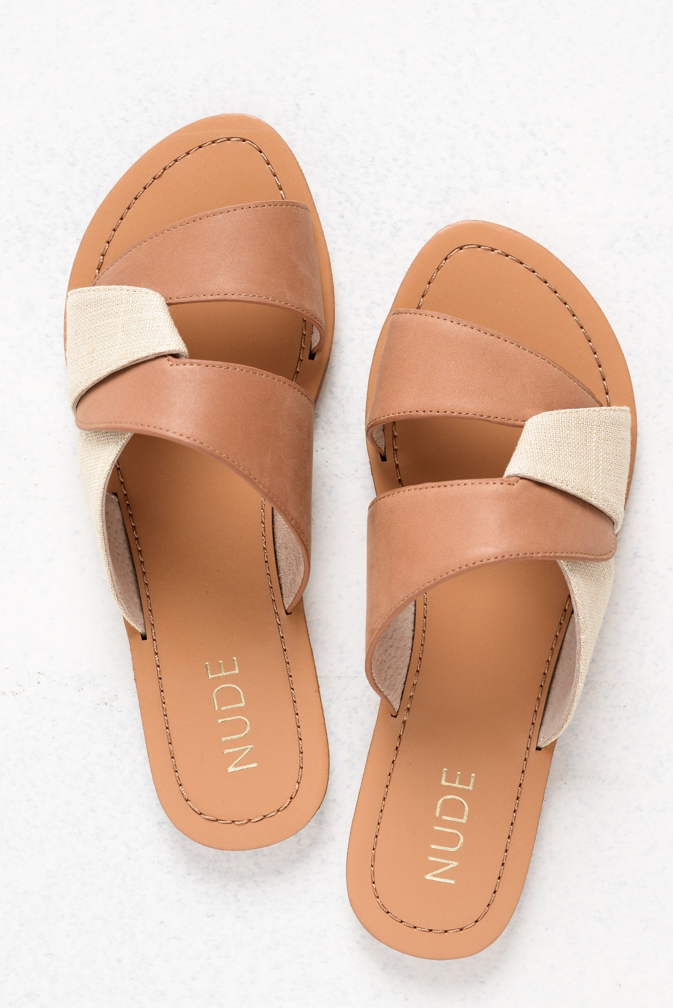 Clara Tan Leather Slide