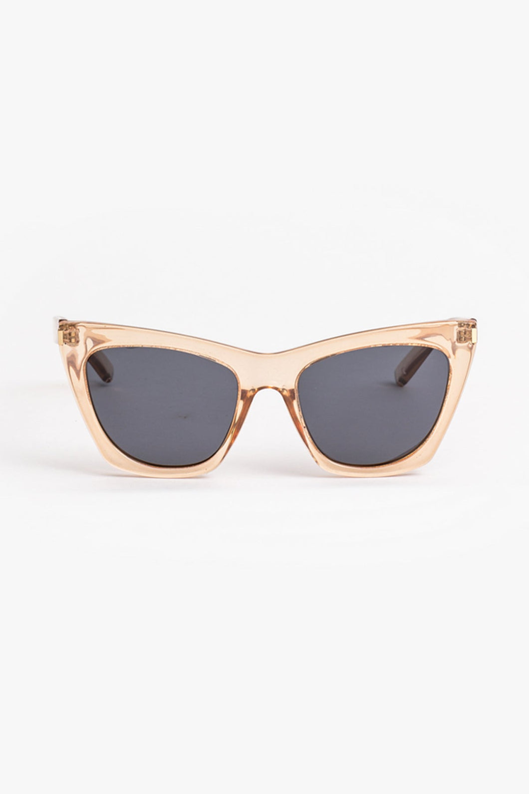 Clara Angled Transparent Brown Sunglasses