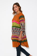 Como Orange Abstract Cotton Dress - Mozaic - Blue Bungalow Online