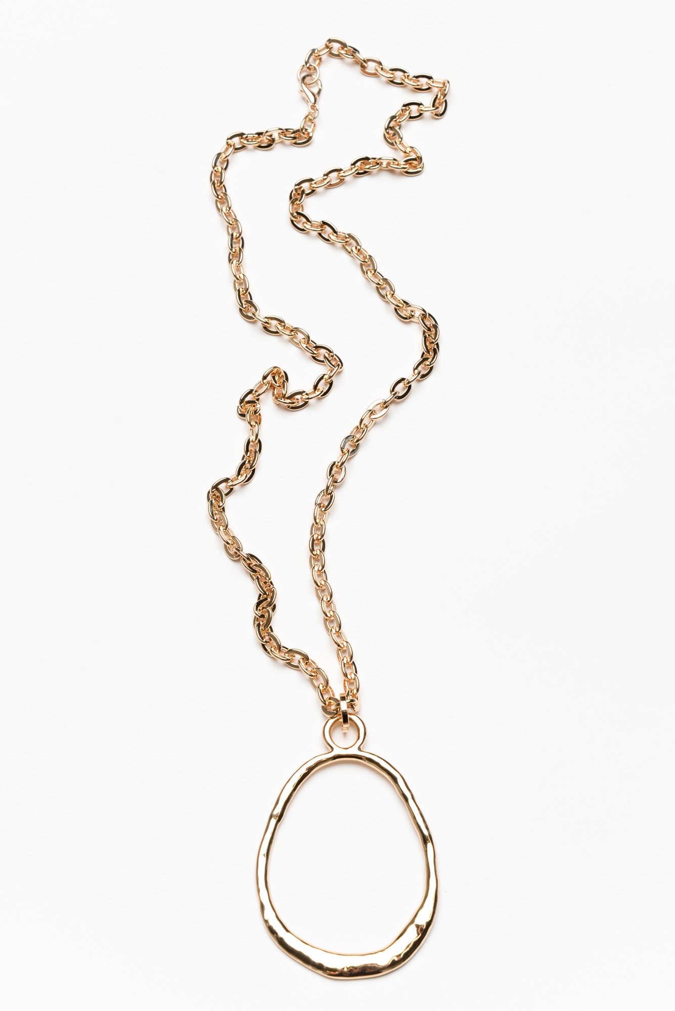 Cora Gold Oval Chain Pendant Necklace
