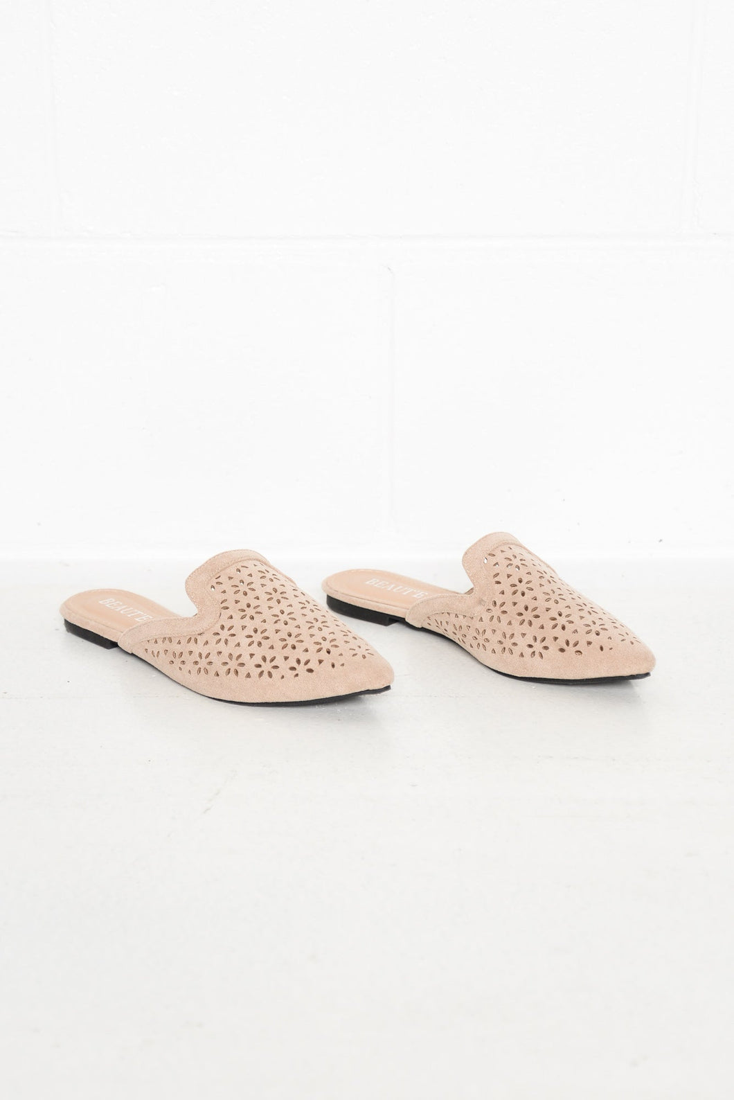 Daisy Nude Cut Out Mule