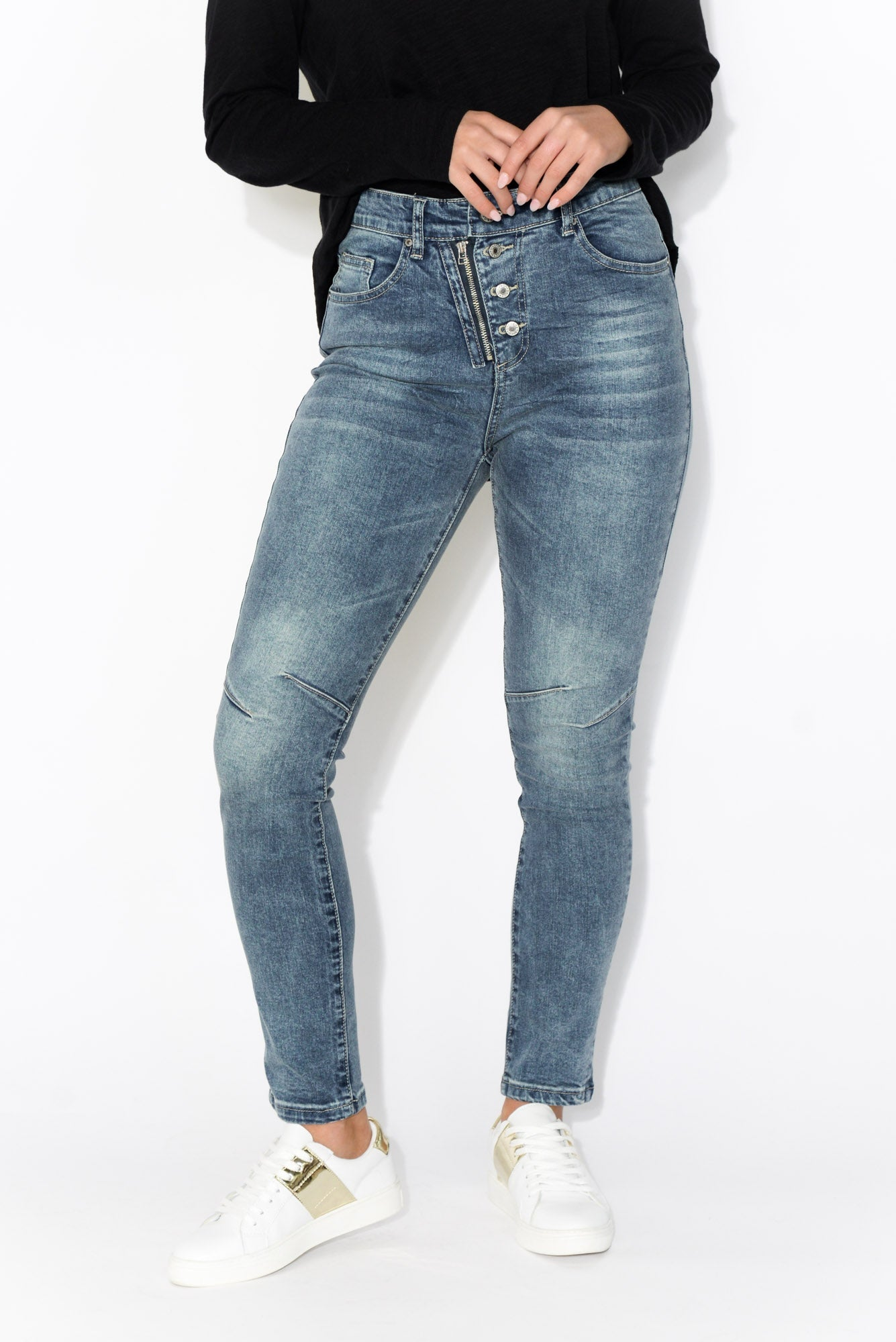 Dani Blue Cotton Stretch Jean