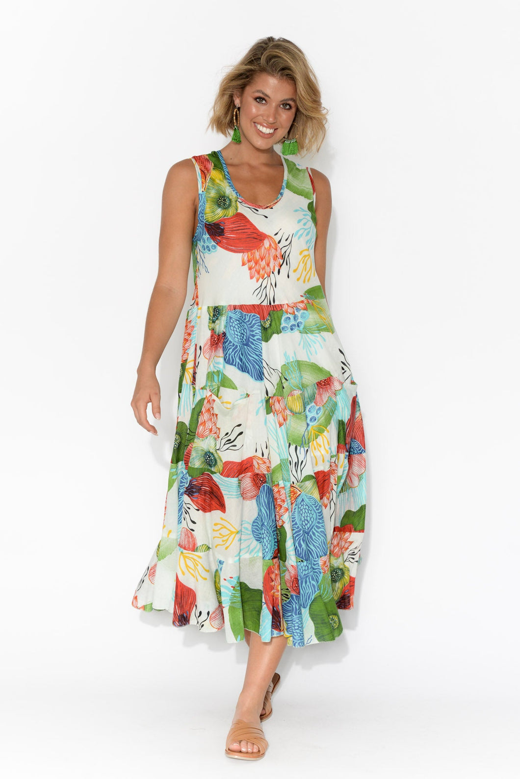 Daydream Bright Floral Cotton Dress