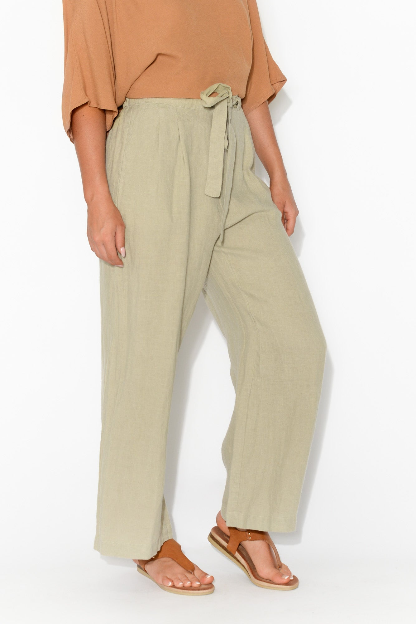 Dickens Natural Linen Pant