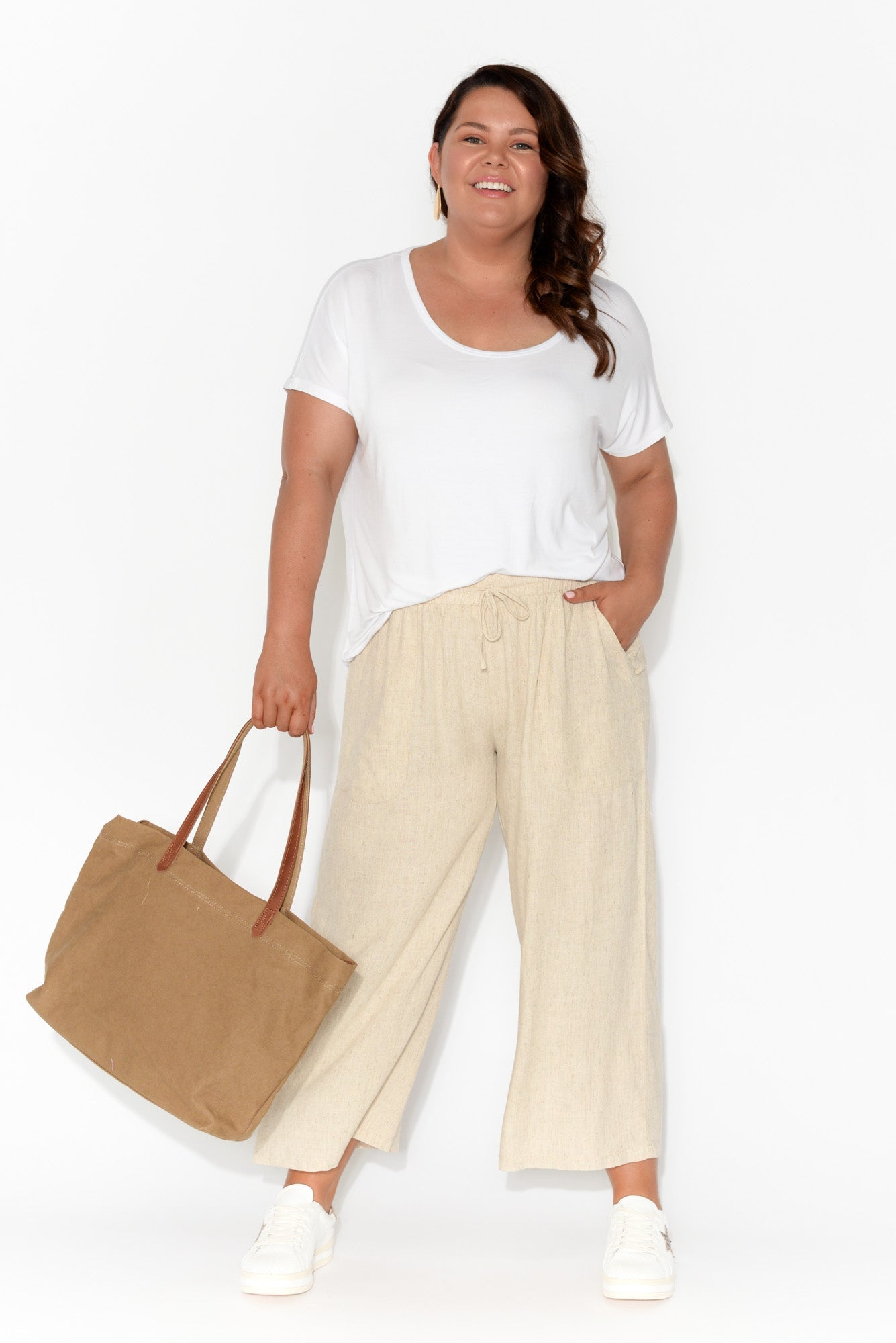Eadie White Bamboo Top