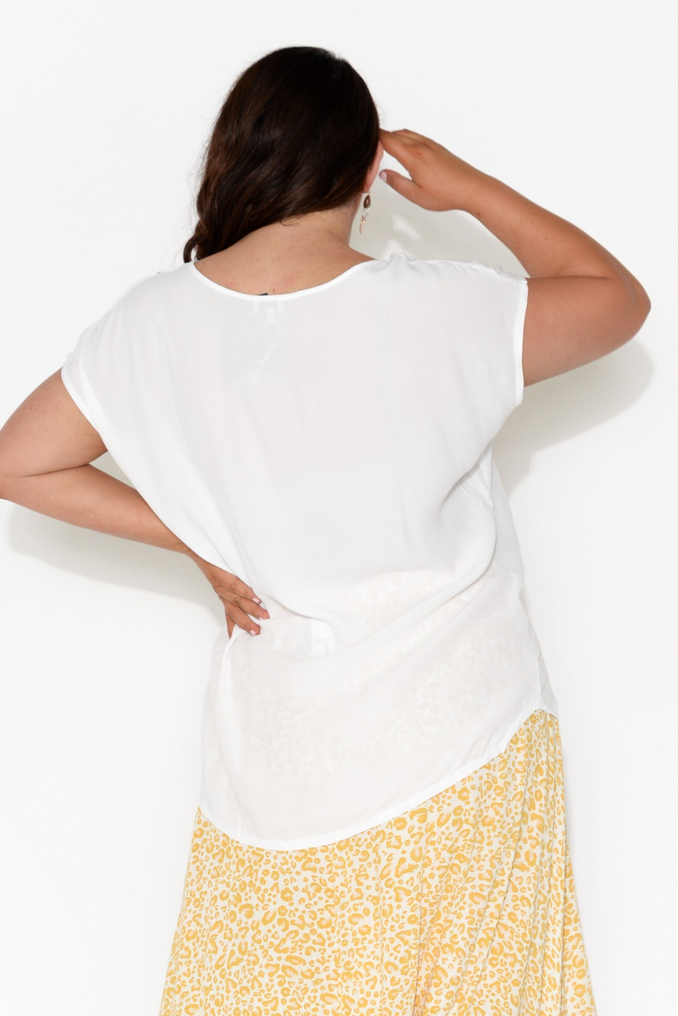 Essi White Shell Top