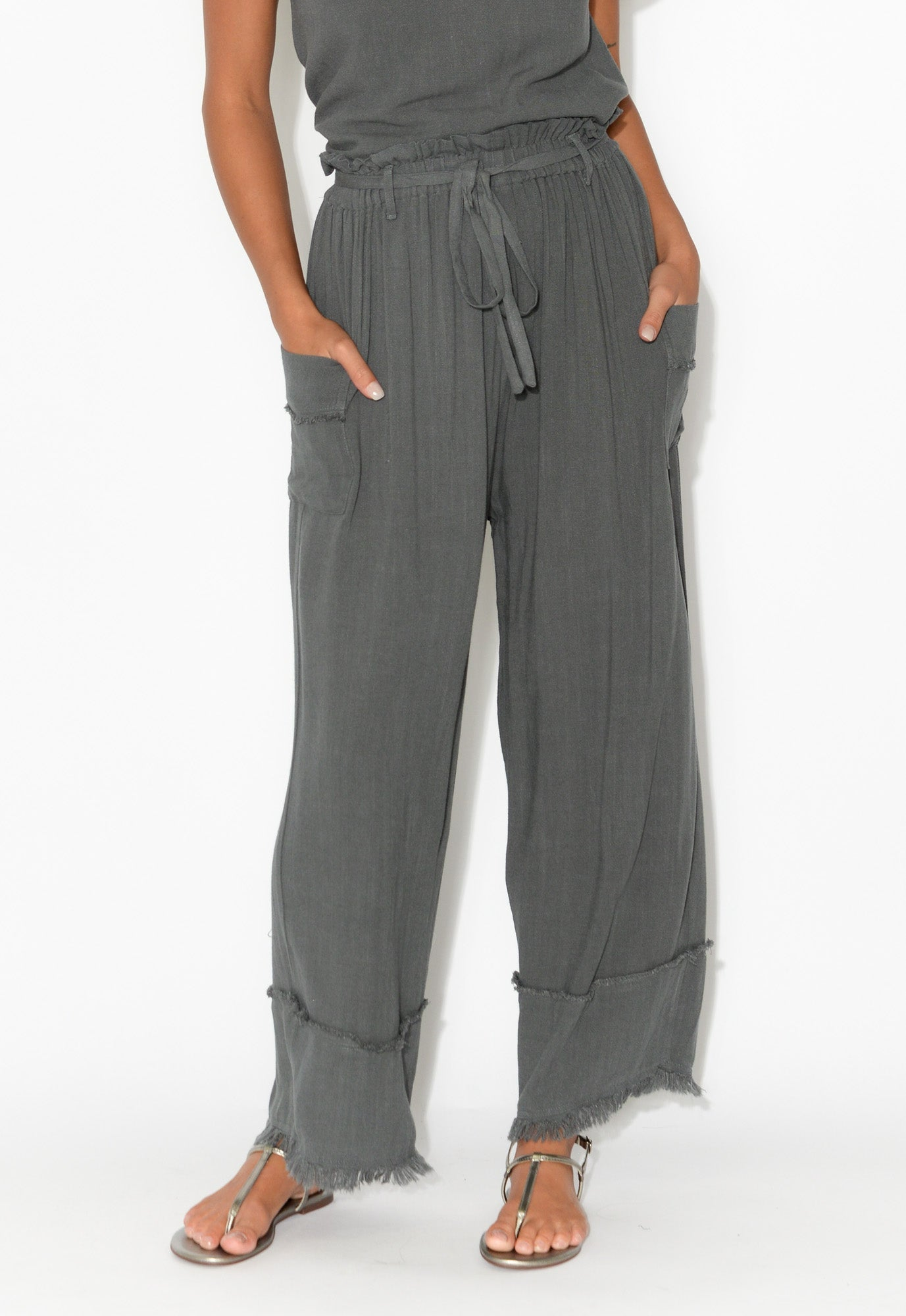 Flynn Charcoal Relaxed Pant