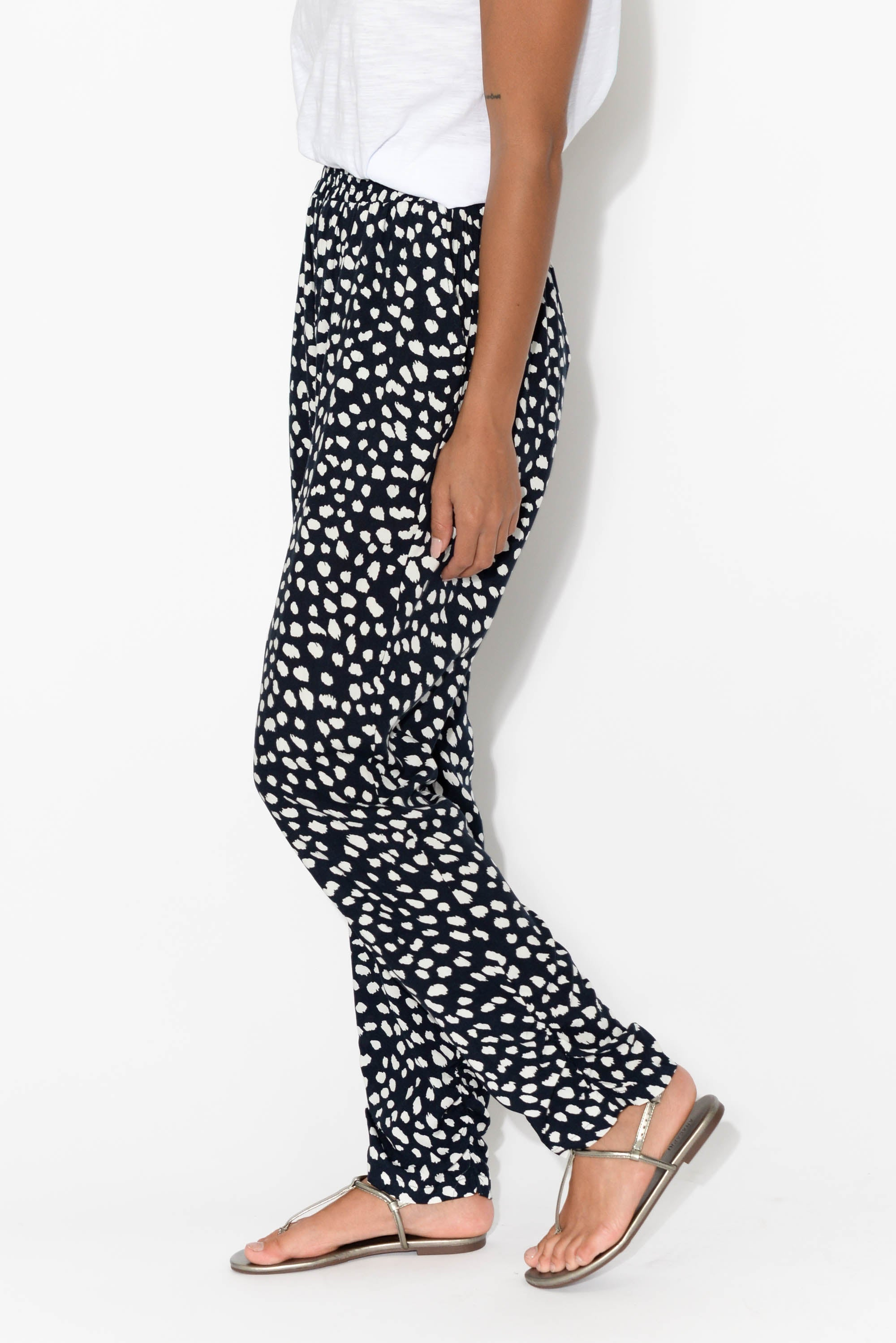 Foster Navy Spotty Pant