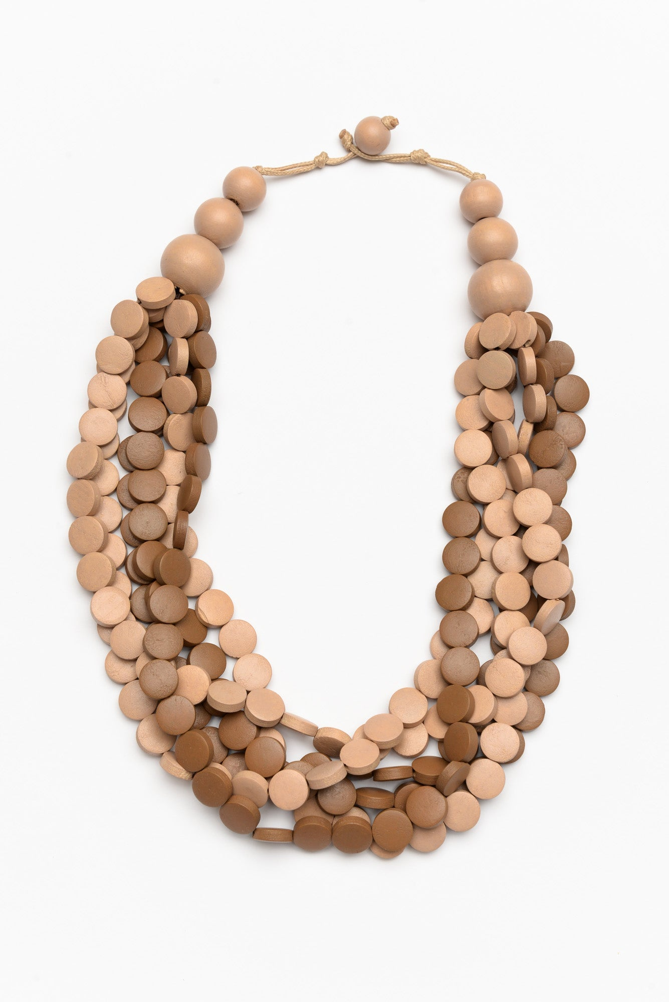 Freckles Natural Beaded Necklace