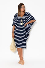 Freya Navy Stripe Batwing Dress