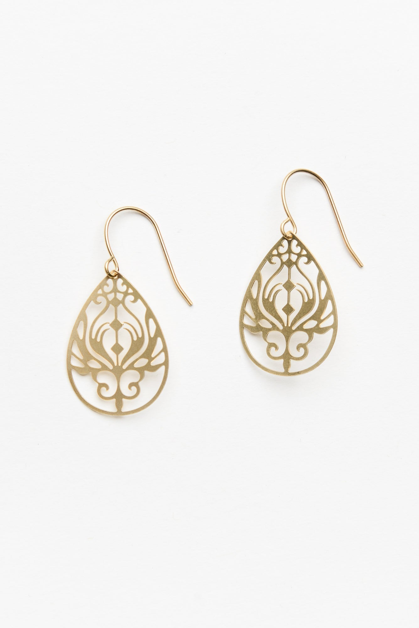 Gold Mini Baroque Filigree Earrings - Tiger Tree - Blue Bungalow Online