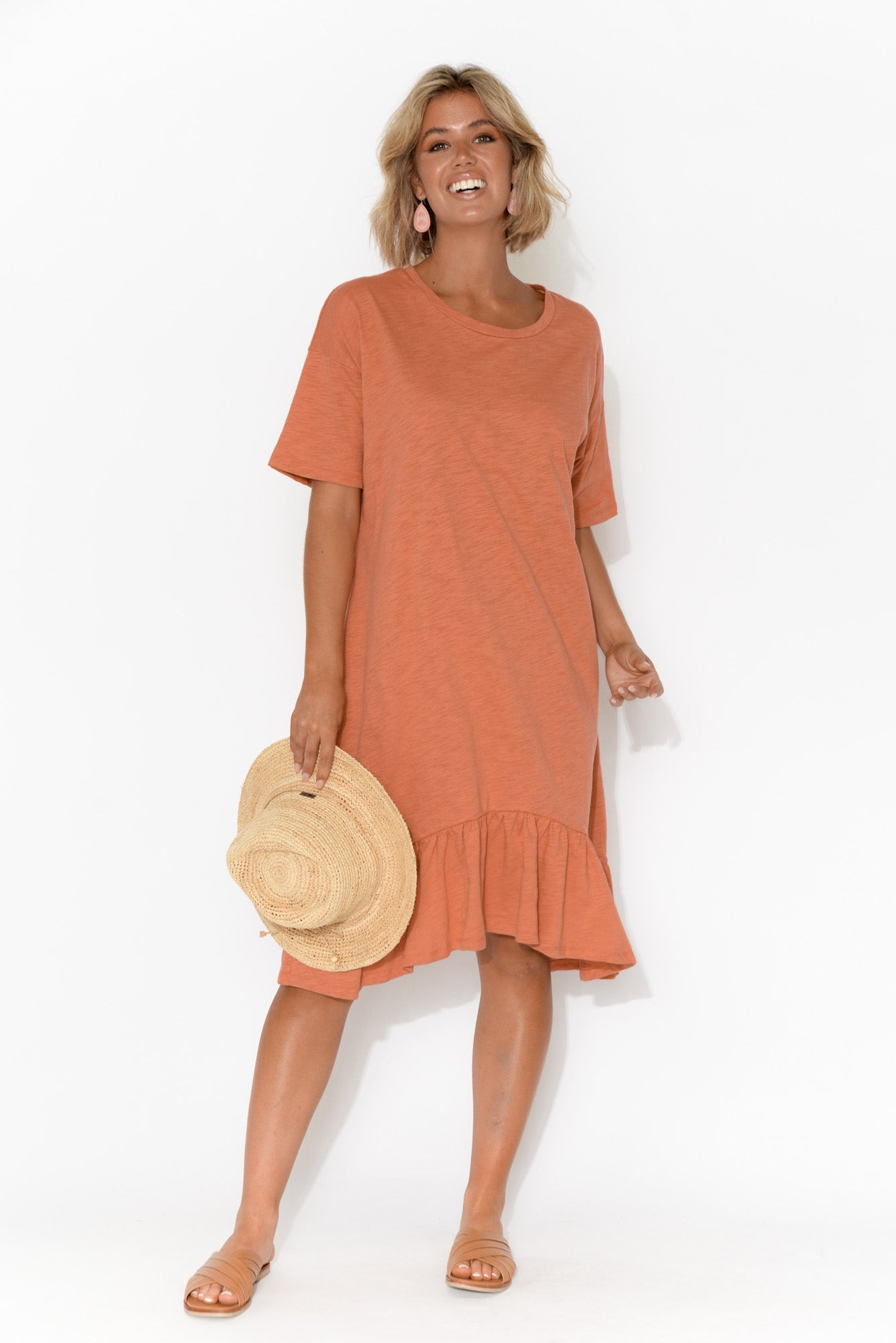 Goldie Coral Frill Dress