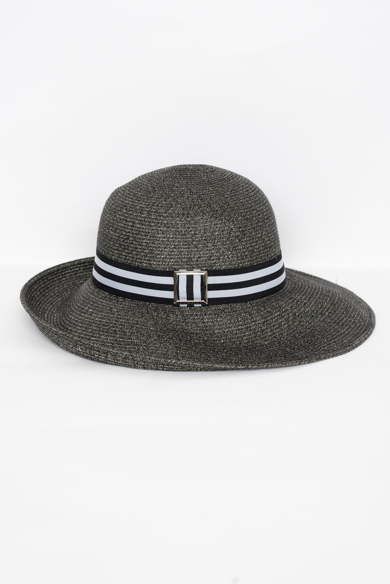 Grace Charcoal Buckle Hat