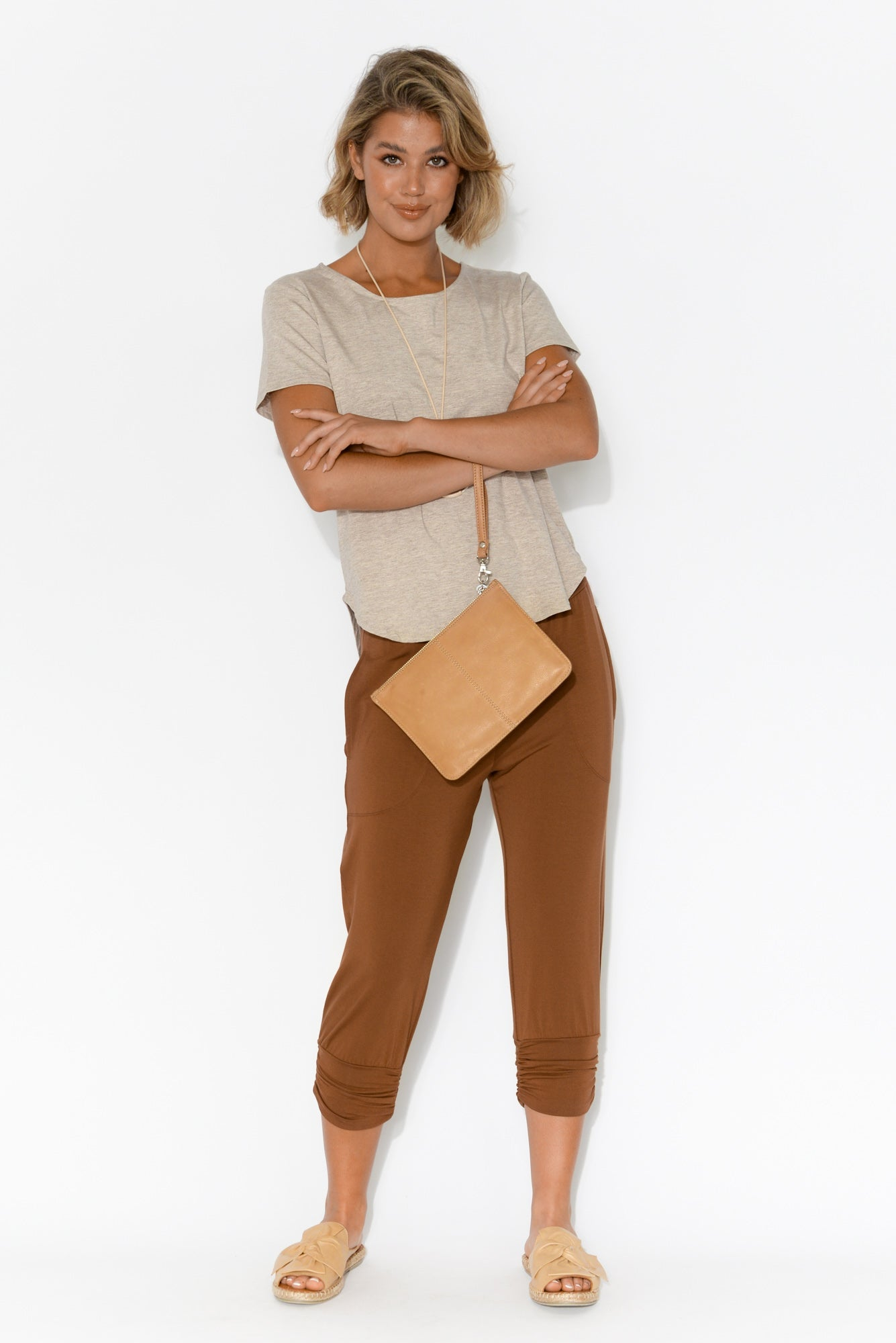 Perry Bronze Bamboo Crop Pant