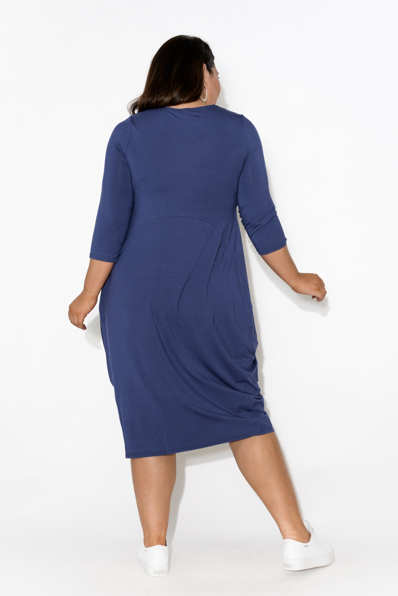 Juno Navy Bamboo Dress