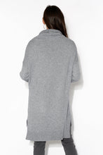 Kelsey Grey Roll Neck Knit Top