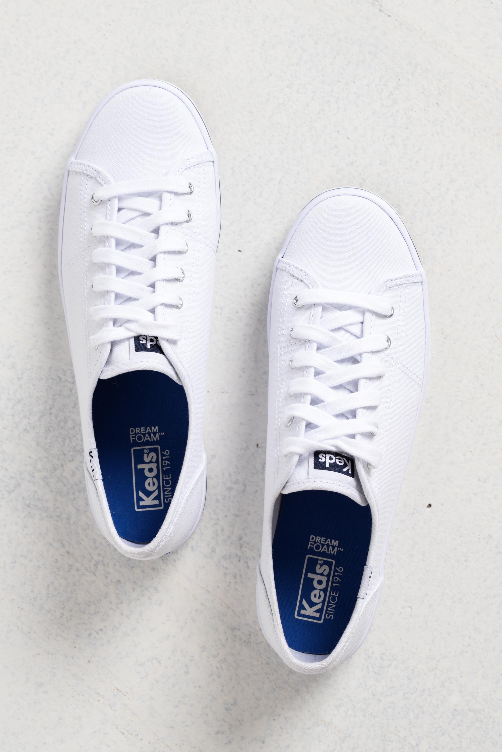 Kickstart White Canvas Sneaker