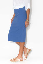 Kingston Blue Ribbed Skirt