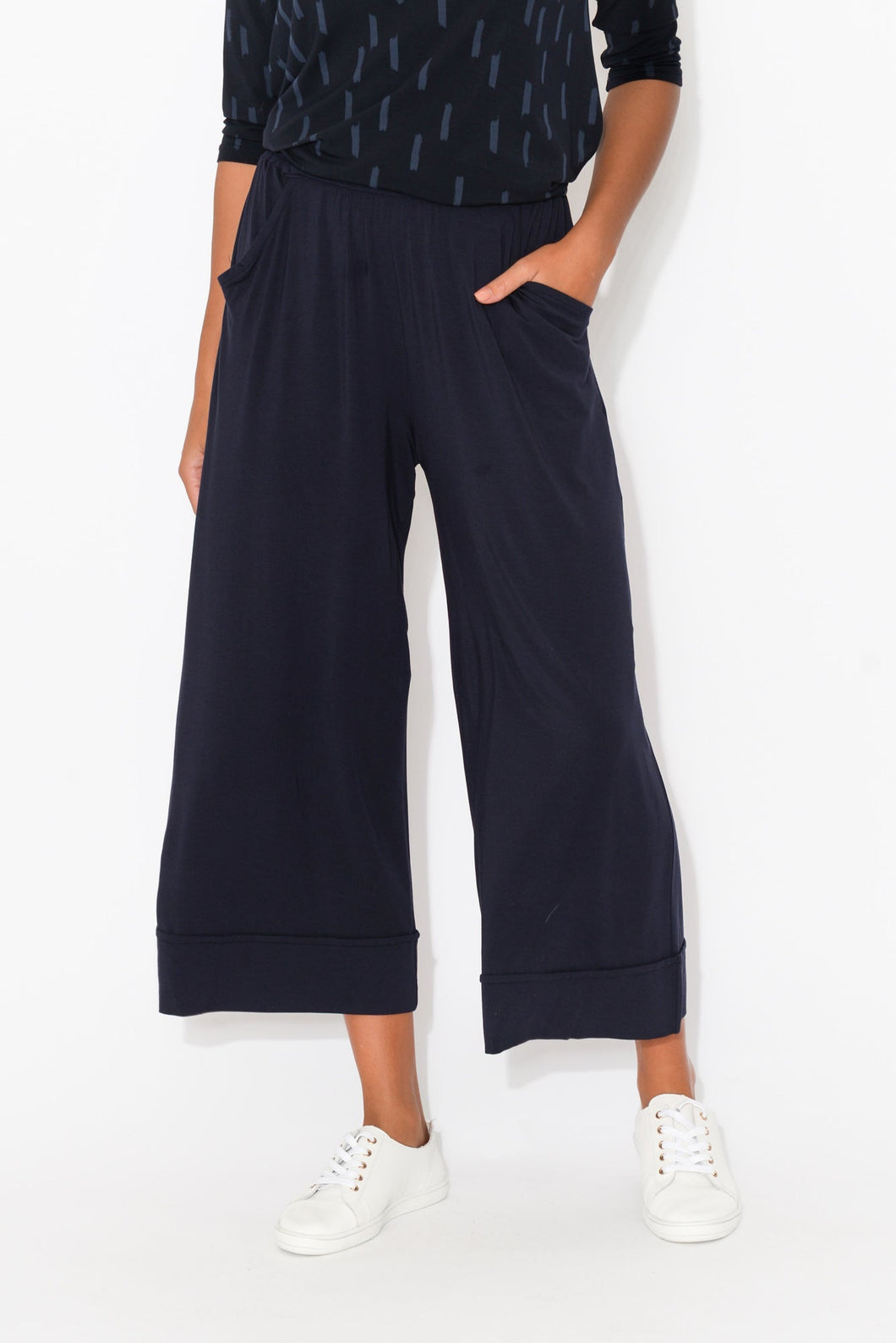 Lena Navy Modal Resort Pant