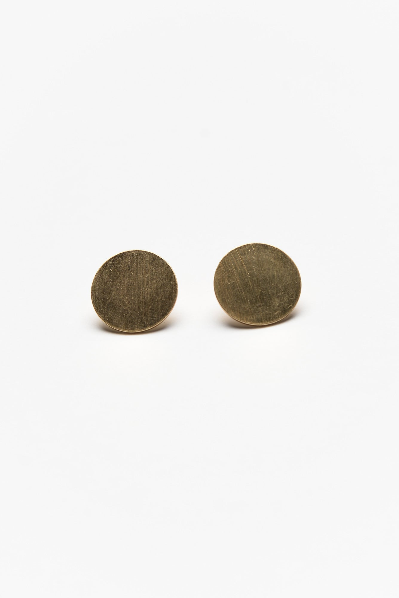 Lido Scratched Gold Dot Studs