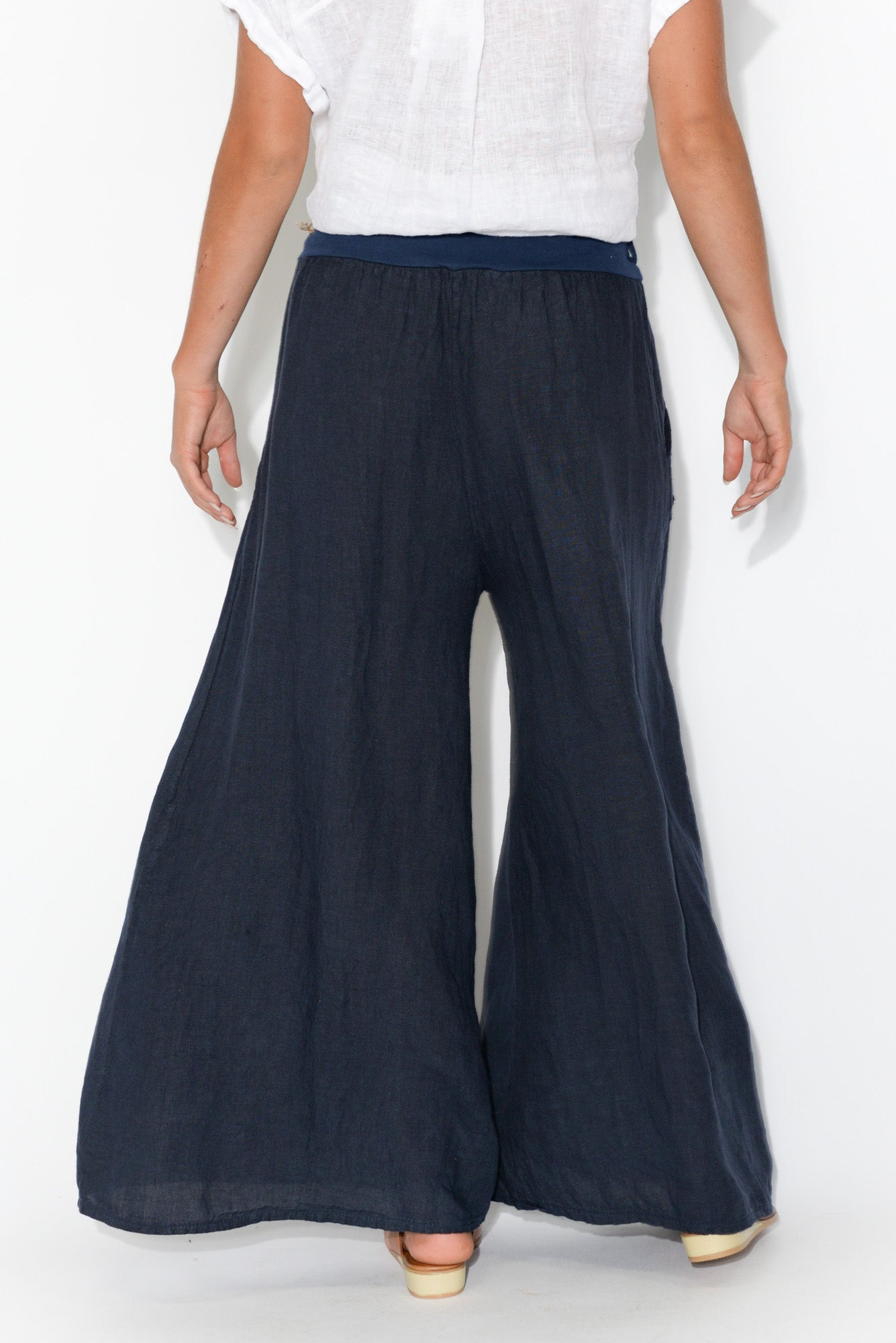 Lively Navy Linen Pant