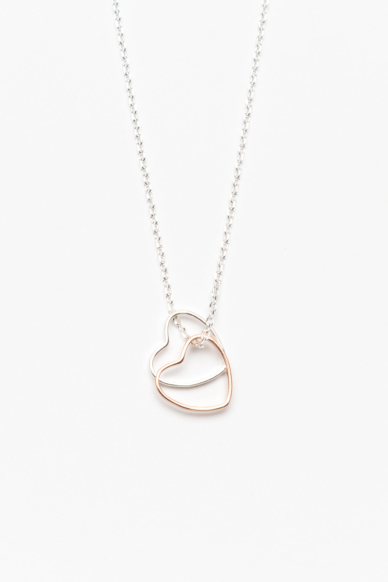 Lolo Silver Rose Gold Heart Necklace