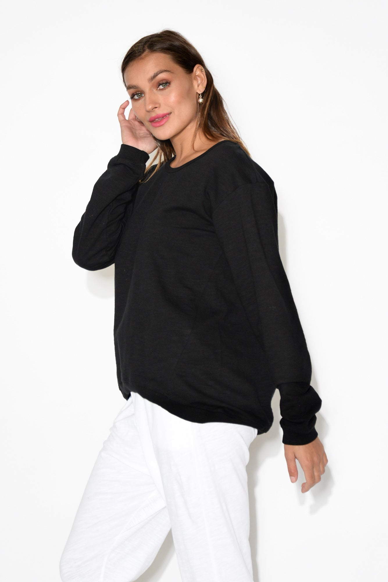 Lucinda Black Relaxed Jumper