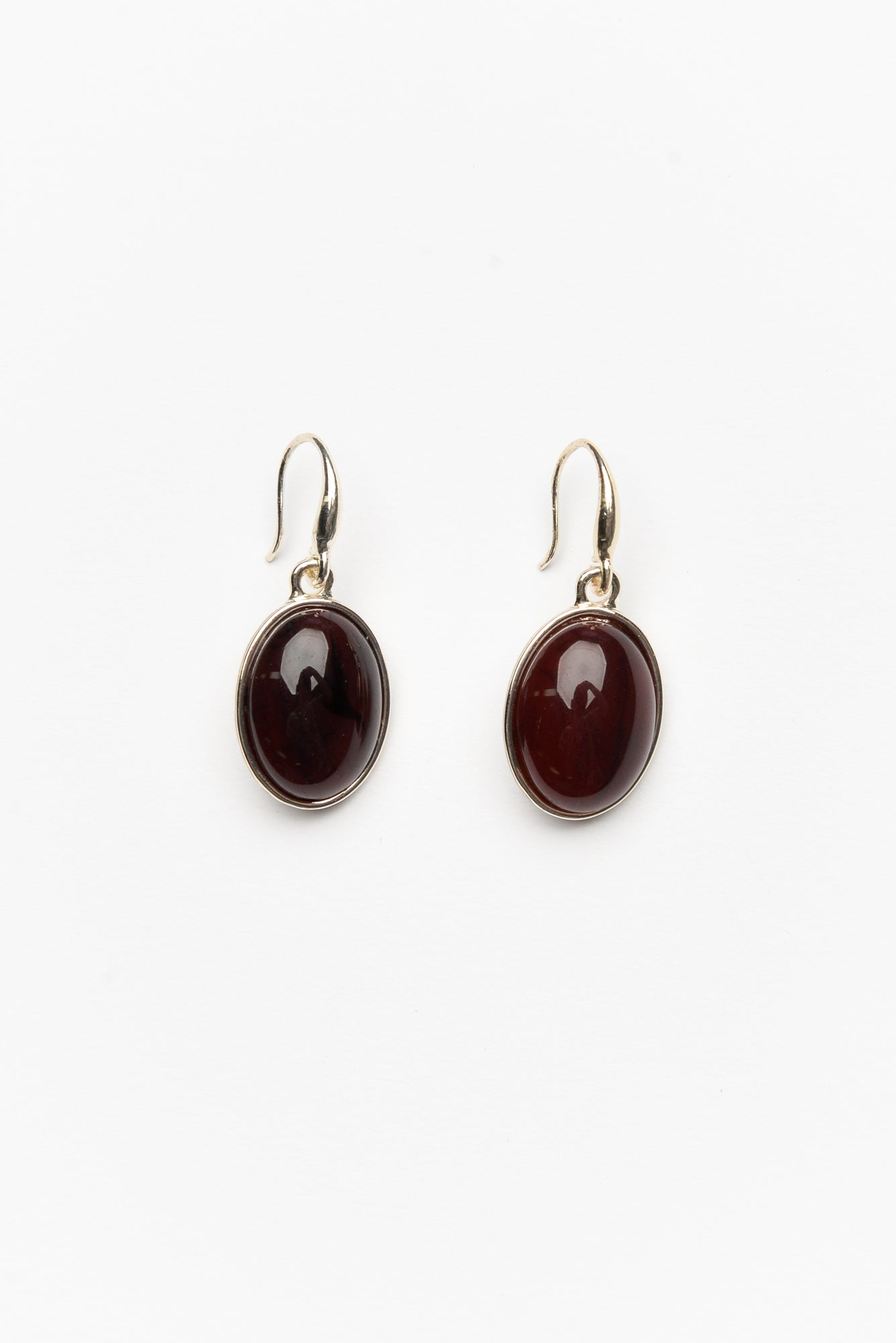 Lulu Chocolate Marble Resin Drop Earring