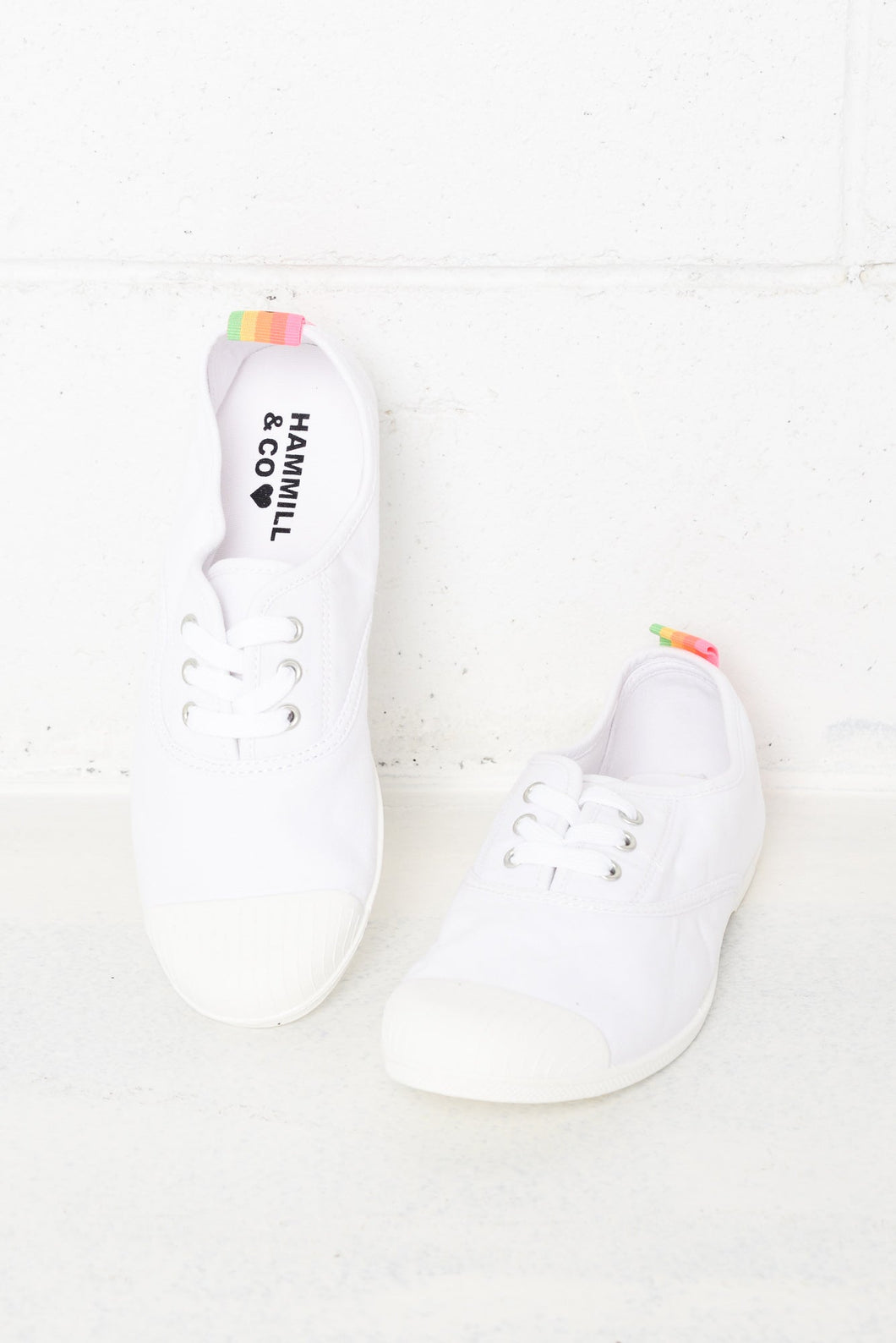 Bonn White Washed Canvas Sneaker