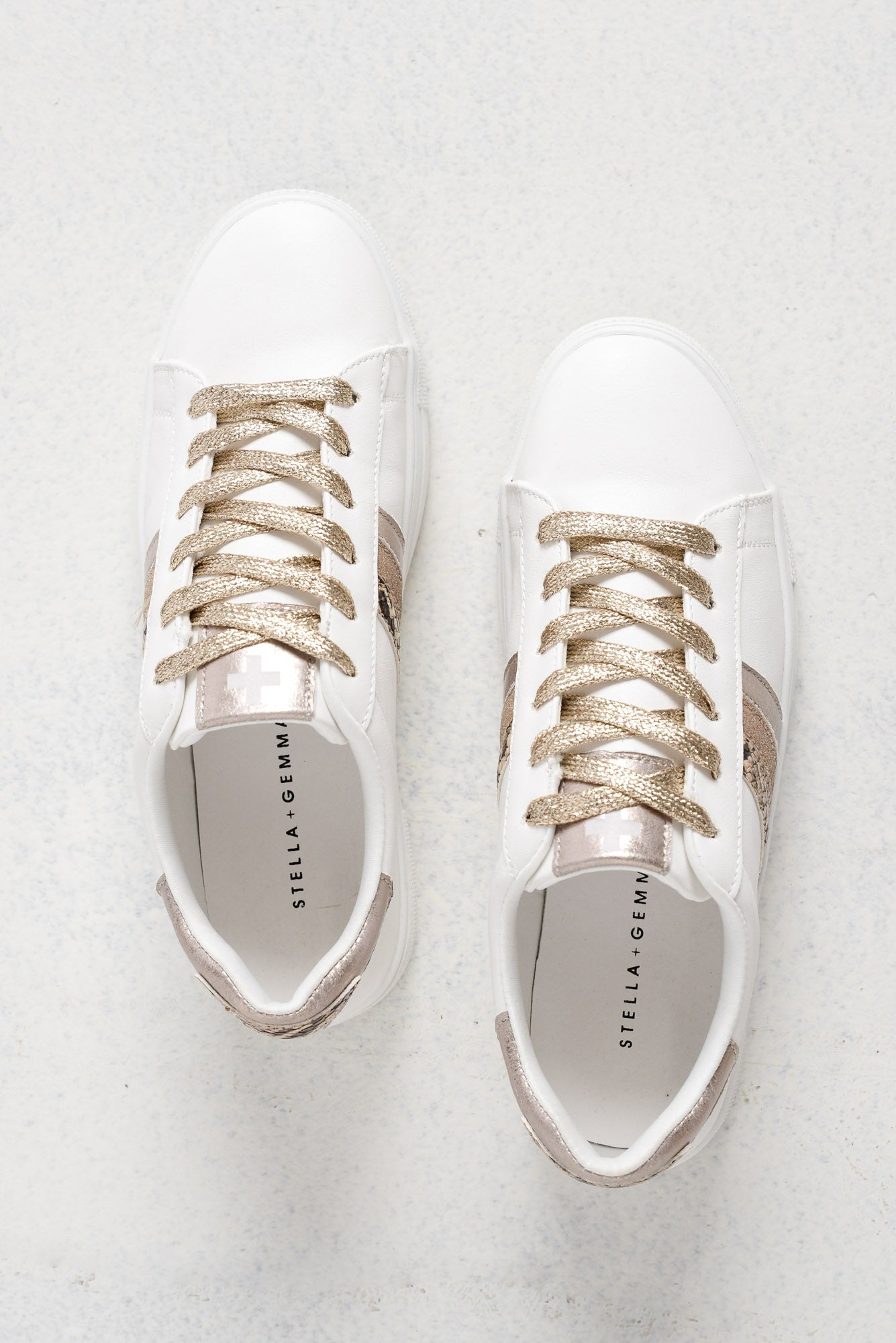 Malta White Rose Gold Sneaker