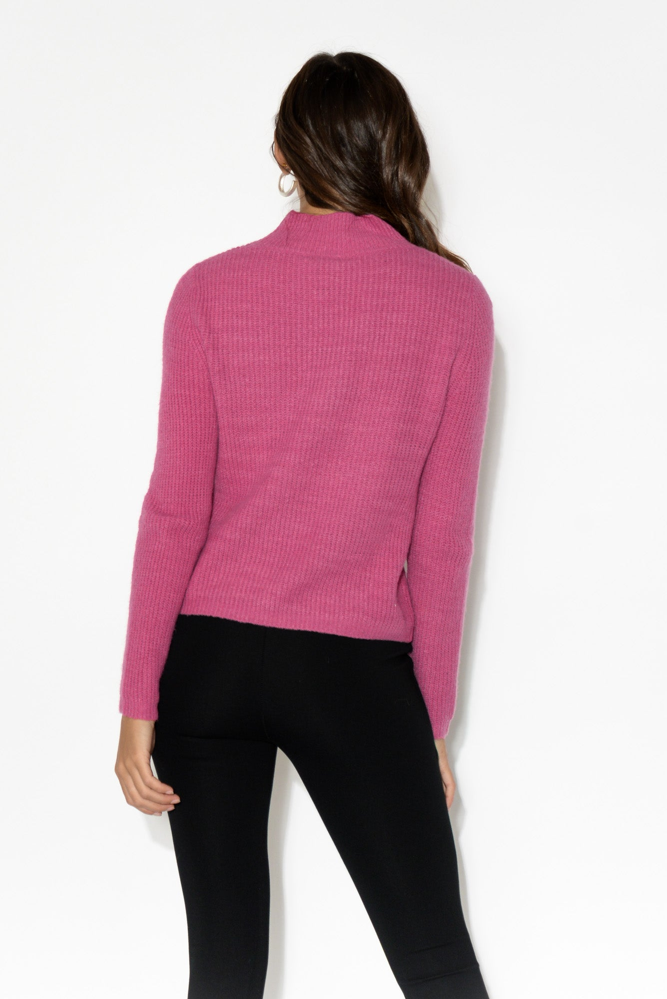 Marty Pink Turtleneck Knit Top