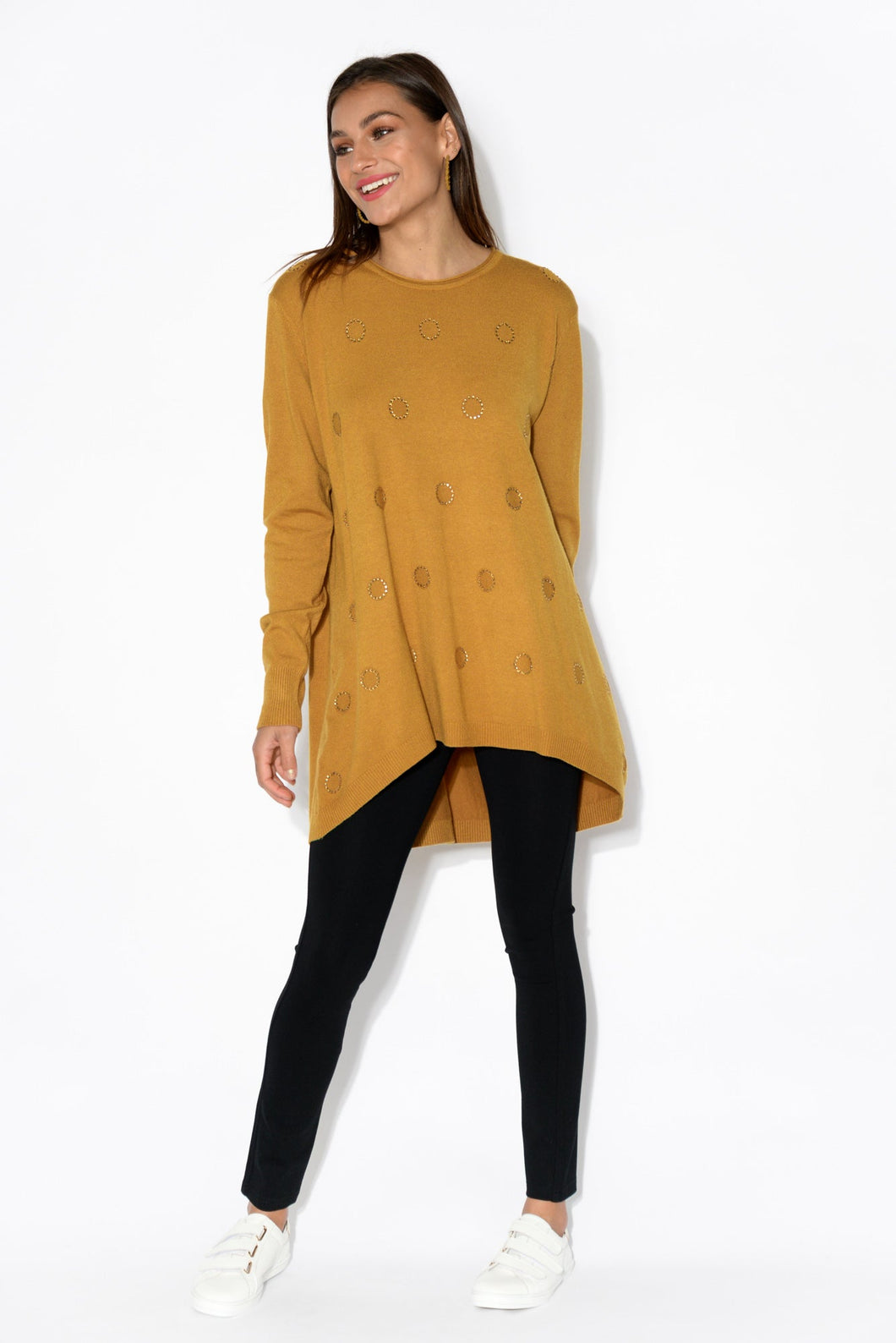 Megan Mustard Knit Jumper