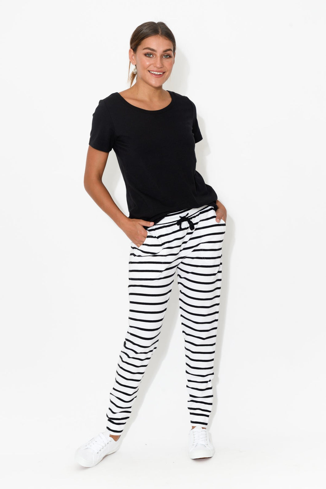 Miley White Stripe Pant