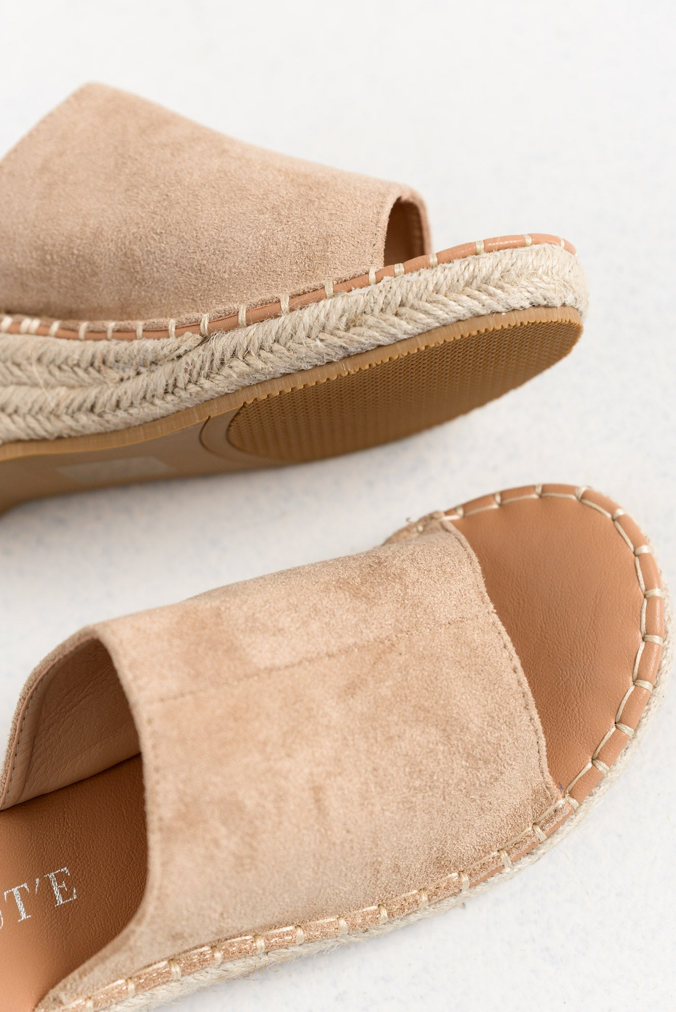 Nairobi Beige Wedge Slide