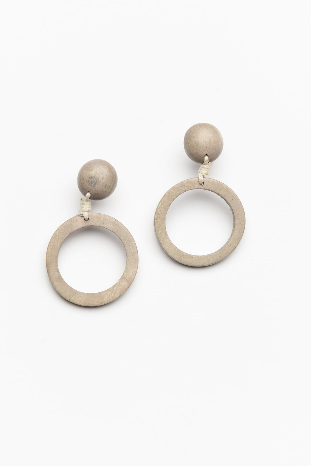 Naomi Beige Circle Drop Earring