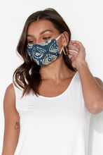 Navy Batik Cotton Fashion Face Mask
